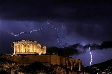 Stormy Acropolis, Athens