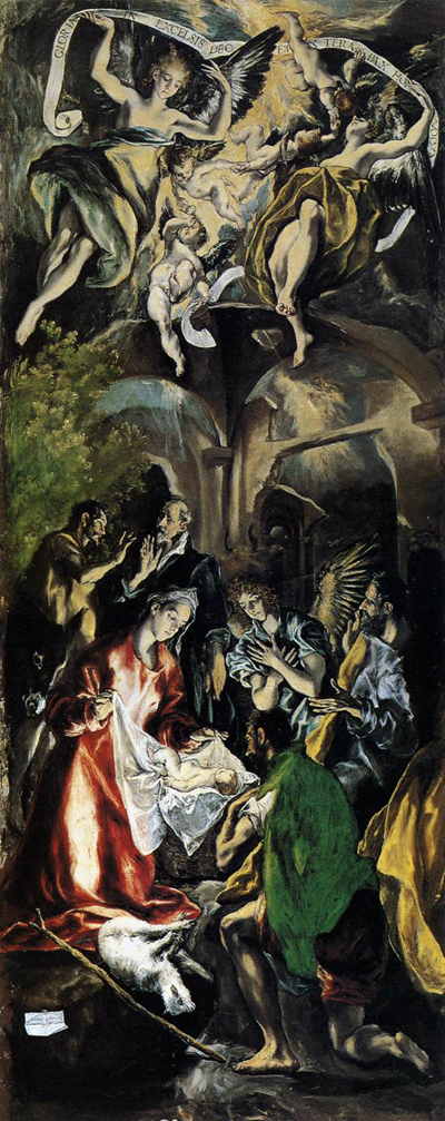 The Adoration by El Greco