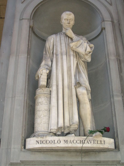 Niccolo Machiavelli at the Uffizi. Florence, Italy
