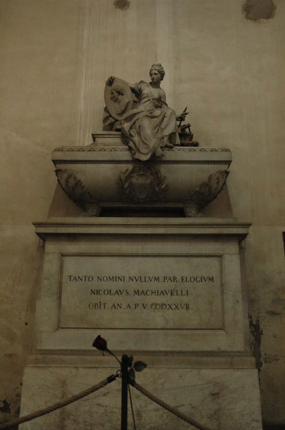 The grave of Niccolo Machiavelli at Santa Croce.  Florence, Italy.